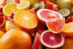 Fresh juicy citrus fruits. Closeup stock images