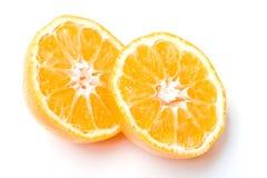 Fresh juicy clementine mandarine citrus fruit cut Stock Photo