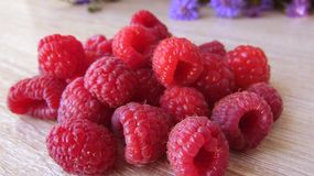 Fresh juicy delicious magic raspberry stock photos