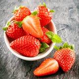 Fresh juicy farm fresh strawberries Royalty Free Stock Photography