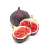 Fresh juicy figs. On white background Royalty Free Stock Photo
