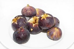 Plate of fresh figs Royalty Free Stock Photo
