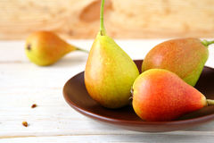 Fresh and juicy fruit on the table, pear Royalty Free Stock Image