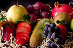 Fresh and juicy fruits Stock Images