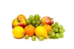 Fresh juicy fruits isolated on white background Royalty Free Stock Photo