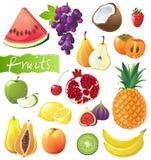Fruits set royalty free illustration