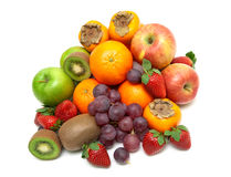 Fresh juicy fruits  on a white background Royalty Free Stock Photography