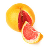 Fresh juicy grapefruit isolated over the white background Royalty Free Stock Photo