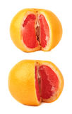 Fresh juicy grapefruit isolated over the white background Royalty Free Stock Photos