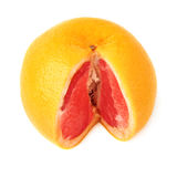 Fresh juicy grapefruit isolated over the white background Stock Photos
