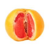 Fresh juicy grapefruit isolated over the white Stock Image