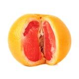 Fresh juicy grapefruit isolated over the white Stock Image