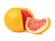 Fresh juicy grapefruit isolated over the white Royalty Free Stock Photo