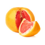 Fresh juicy grapefruit isolated over the white Stock Images