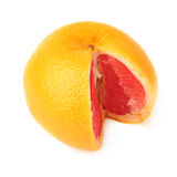 Fresh juicy grapefruit isolated over the white Royalty Free Stock Photography