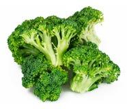 Fresh Juicy Green Broccoli on White Background. Studio Photo Royalty Free Stock Photos