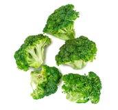 Fresh Juicy Green Broccoli on White Background. Studio Photo Stock Images