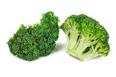 Fresh Juicy Green Broccoli on White Background. Studio Photo Stock Photos