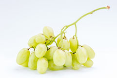 Fresh juicy green grapes on white background, healthy food conce Stock Image