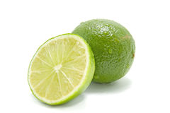 Fresh juicy green lime Stock Photos