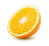 Fresh and juicy half orange fruit Stock Images