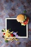 Fresh and juicy hamburger stock image