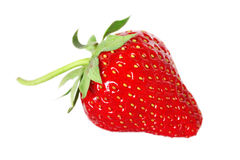 Fresh, juicy and healthy strawberry isolated over white Royalty Free Stock Photography