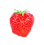 Fresh, juicy and healthy strawberry isolated over white Royalty Free Stock Photo