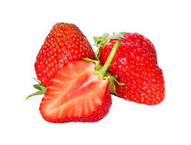 Fresh, juicy and healthy strawberry isolated over white Royalty Free Stock Image