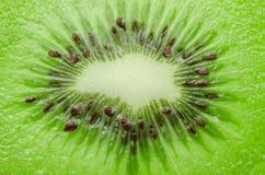 Fresh juicy kiwi fruit slice closeup. Royalty Free Stock Images