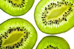 Fresh juicy kiwi fruit slice Stock Photos