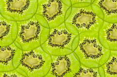 Fresh juicy kiwi fruit texture Stock Images