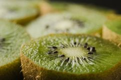 fresh, juicy a kiwi in a section/fresh, juicy a kiwi in a section. selective focus stock photo