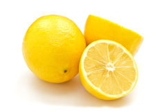 Fresh juicy lemon on white background Royalty Free Stock Image