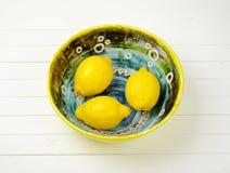 Fresh juicy lemons Stock Photography