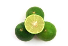 Fresh juicy limes, isolated on white background.  Stock Photography