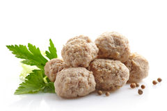 Fresh juicy meatballs Stock Photos