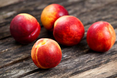 Fresh juicy Nectarine Fruit close up.  selected focus Royalty Free Stock Image