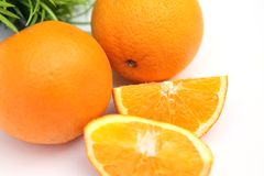 Fresh and juicy orange Royalty Free Stock Photo