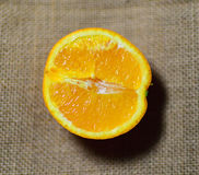 Fresh juicy orange Royalty Free Stock Photos