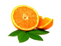 Fresh juicy orange pieces Royalty Free Stock Photography