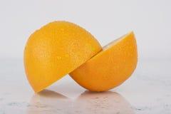 Fresh Juicy Orange on white Royalty Free Stock Photos