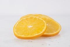 Fresh Juicy Orange on white Royalty Free Stock Photo