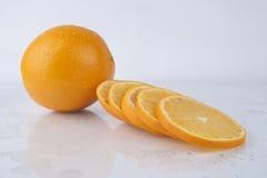 Fresh Juicy Orange on white Royalty Free Stock Photography