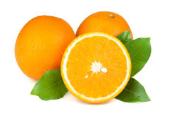 Fresh juicy oranges Royalty Free Stock Photos