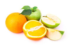 Fresh Juicy Oranges And Apples Royalty Free Stock Image