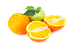 Fresh juicy oranges and apples Stock Photography