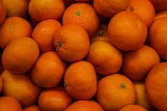 Fresh juicy oranges on local farmers market place stock photography