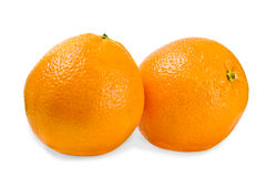 Fresh juicy oranges on a white background Stock Photo