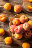 Fresh Juicy Organic Yellow Peaches Royalty Free Stock Images